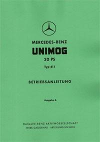 Betriebsanleitung Unimog 411 - 30 PS - 30 400 51 05 - 304001008
