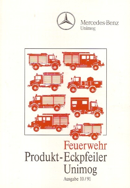 Unimog Feuerwehr - Produkt-Eckpfeiler 10/91 Original - 304001018