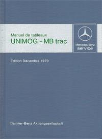 Manuel de tableaux Unimog + MB-trac 1979 - 30 403 31 01 Original - 384031001