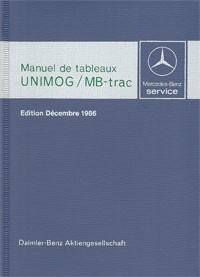 Manuel de tableaux Unimog + MB-trac 1986 - 30 403 31 03 Original - 384031003