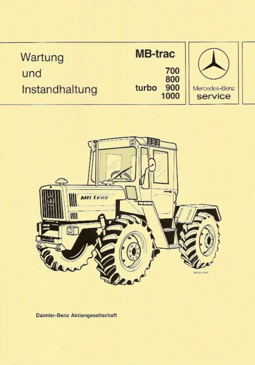 Wartung und Instandhaltung MB-trac 440 441 - 30 400 26 21-02 - 364001017