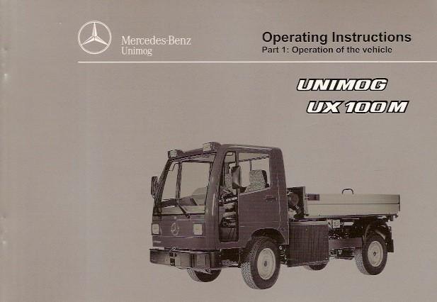 Operating Instructions Unimog UX 100 M - 6518 5038 02 E Original - 314021024