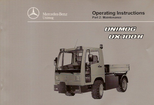 Operating Instructions Unimog UX 100 H - 6518 5037 02 E Original - 314021022