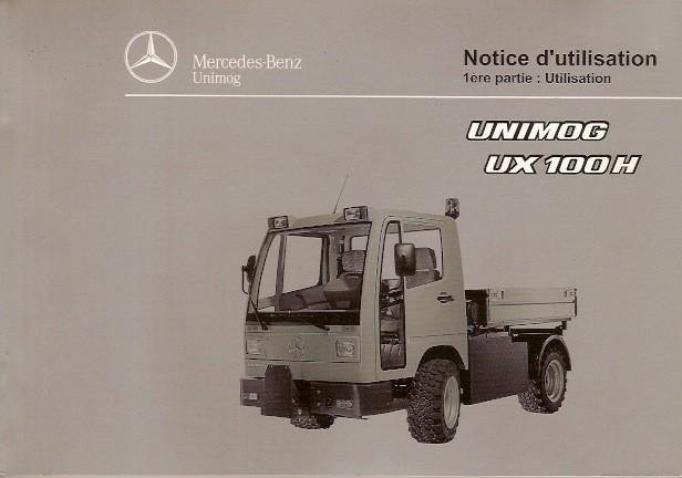 Notice d'utilisation Unimog UX 100 H - 6518 5036 03 Original - 324031020
