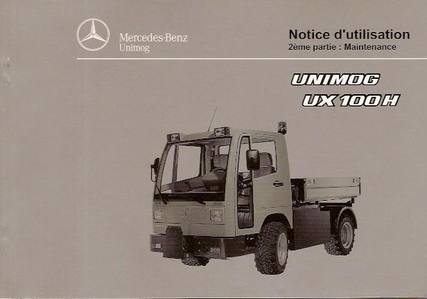Notice d'utilisation Unimog UX 100 H - 6518 5037 03 Original - 324031021