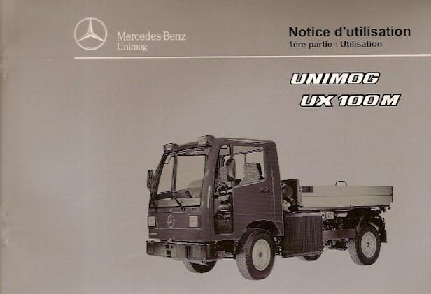 Notice d'utilisation Unimog UX 100 M - 6518 5038 03 Original - 324031022