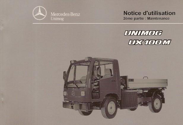 Notice d'utilisation Unimog UX 100 M - 6518 5039 03 Original - 324031023