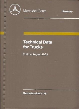 Technical Data for Trucks 1989 - 6510 3276 02 Original - 384021006