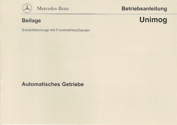 Original Betriebsanleitung Unimog Automatisches Getriebe - 6518 8701 00 - 304001040