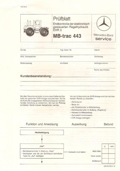 Prüfblatt Endkontrolle EHR 3 - 30 400 41 12 Original - 364001023