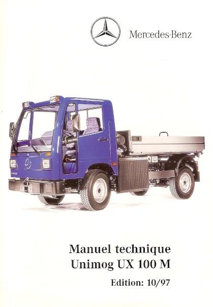 Manuel technique Unimog UX 100 M - 10/97 Original - 324031019
