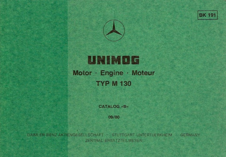 Bildkatalog Motor M 130 - 1910 - Original - 404001045