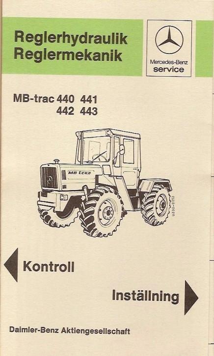 Reglermekanik MB-trac 440 441 442 443 - 409 4801 Original - 354091010