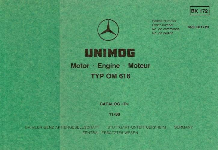 Bildkatalog Motor OM 616 - 1720 Original Cat. D - 404001042