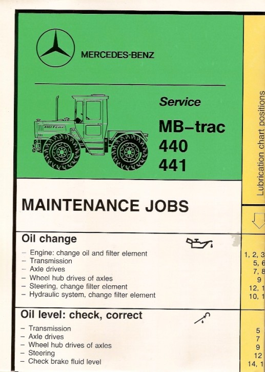 Maintenance Jobs MB-trac 440 441 443 - 30 402 6504 Original - 314021044