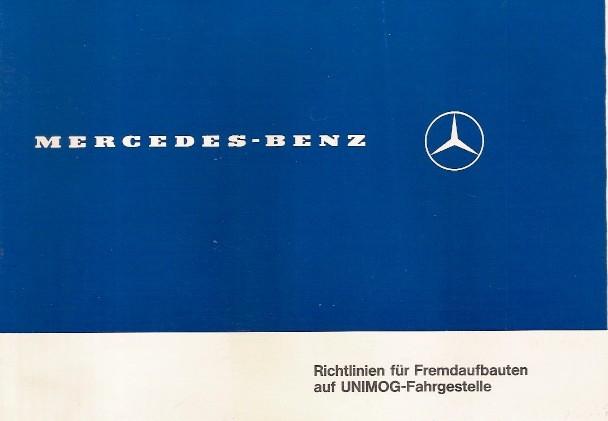 Richtlinien Fremdaufbauten auf Unimog-Fahrgestelle - Original - 304001036