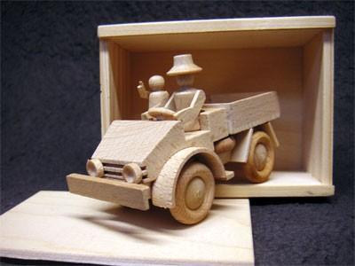 Unimog-Holzmodell 2010 aus dem Erzgebirge natur - 16002 - 704001032
