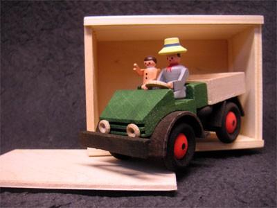 Unimog-Holzmodell 2010 aus dem Erzgebirge - 16001 bunt - 704001031