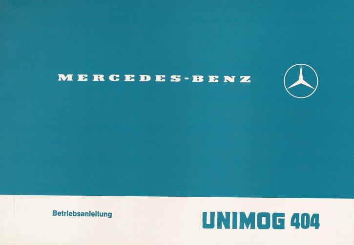 Betriebsanleitung Unimog 404.0 404.1 - 30 400 51 33 - 304001005