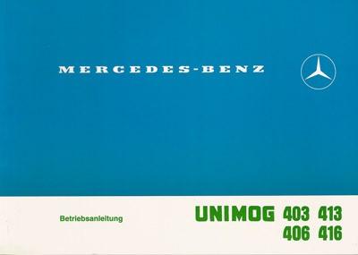 Betriebsanleitung Unimog 403 406 413 416 Trommelbremse - 30 400 51 04 - 304001003