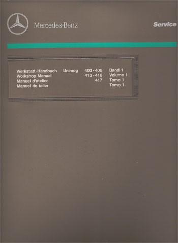 Werkstatt-Handbuch Unimog 403 406 413 416 417 - 104001003 - 30 400 21 01