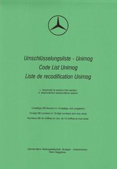 Umschlüsselliste Unimog - UL - 204001017