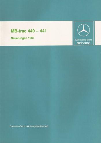 Einführung Neuerungen 1987 MB-trac 440 441 - 30 400 11 07 Original - 364001012