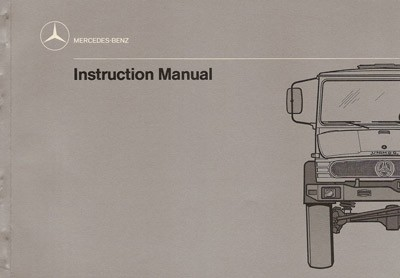 Instruction Manual Unimog 417 - 30 402 51 18 Original -  314021011