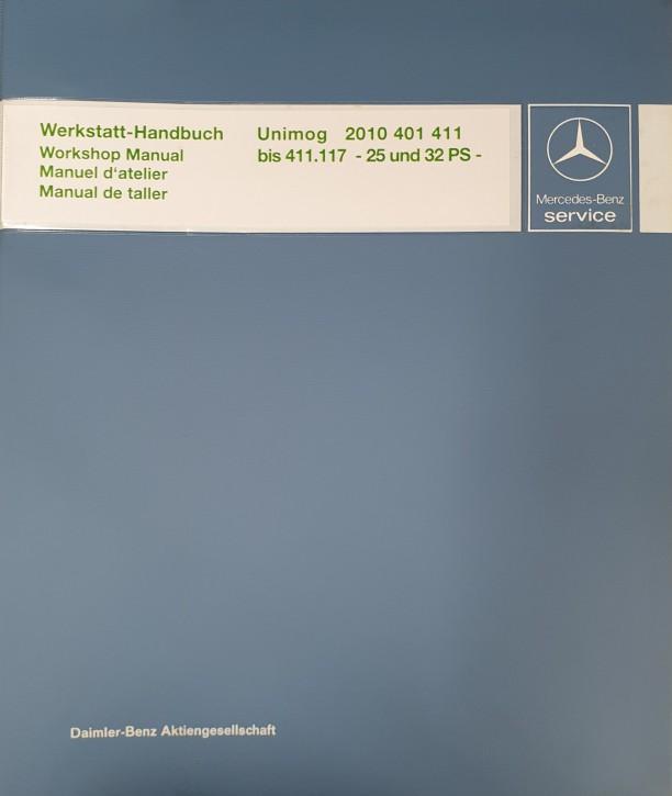 Werkstatt-Handbuch Unimog 2010 401 411 bis 411.117 - 104001021 - 30 400 21 32