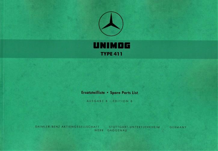 Ersatzteilliste Unimog 411 - 204001023