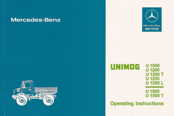 Instruction Manual Unimog 424/425 -30 402 51 47 - 314021014