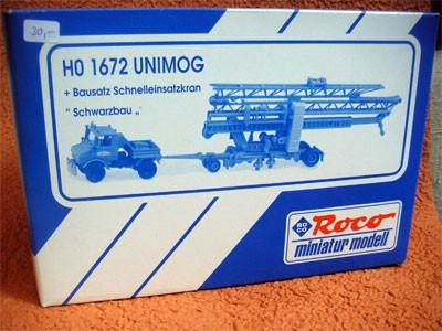Roco Unimog mit Schnelleinsatzkran (Bausatz) - 1901672 - 704001010