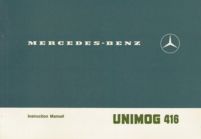 Original Instruction Manual Unimog 416.114 - 6.1976 - 30 402 51 06 - 314021008