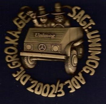 Unimog-Orden GroKaGe Gaggenau 2002/3 - 704001001