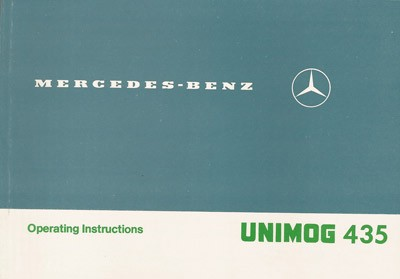 Original Instruction Manual Unimog 435 Right hand - 30 402 51 48 - 314021017