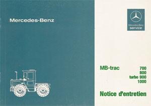 Notice d'entretien MB-trac 440 441 - 30 403 51 25 Original - 324031028