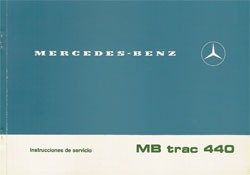 Instrucciones de servicio MB-trac 440 / 65/70 - 30 404 51 21 Original - 344041020