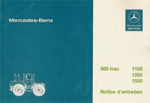Notice d'entretien MB-trac 443 - 30 403 51 26 Original - 324031031
