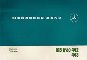 MB-trac Kullanma Talimatlari 442 443 - 30 417 51 22 Original - 354171004