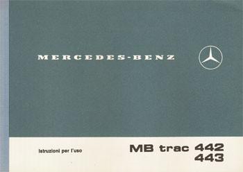 Istruzioni per uso MB-trac 442 443 -30 406 51 22 Original - 334051020