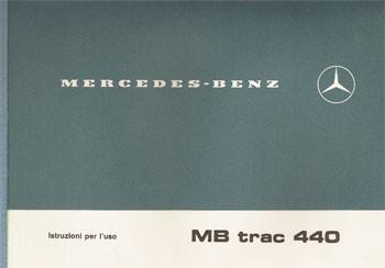 Istruzioni per uso MB-trac 440 - 30 406 51 21 Original - 334051019