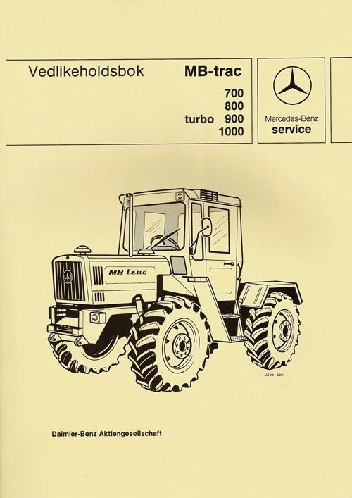 Vedlikeholdsbok MB-trac 700 800 900 turbo 1000 -  30 415 26 21 Original - 364151001