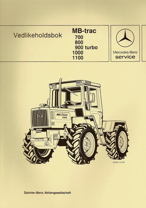 Vedlikeholdsbok MB-trac 700 800 900 turbo 1000/1100 - 30 415 26 23 Original - 364151002