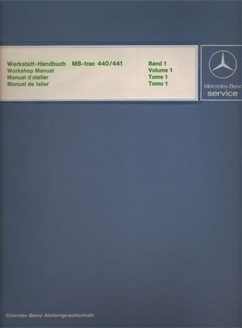 Manuel d'atelier MB-trac 440 441 - 30 403 21 25 - 124031007