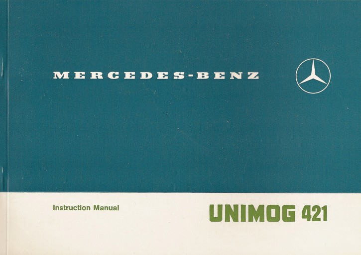 Original Instruction Manual Unimog 421 / U 600 L  - 1.1982 - 30 402 51 05 - 314021012