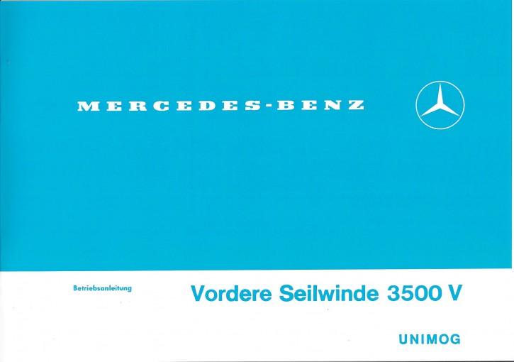 Betriebsanleitung Vordere Seilwinde 3500 V - 30 400 52 01 - 304001032