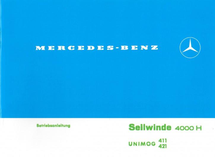 Betriebsanleitung Hintere Seilwinde 4000 H - 30 400 52 02 - 304001033