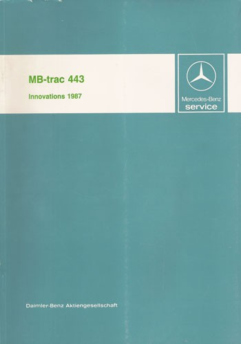 MB-trac 443 Introduction into service - 30 402 11 08 Original - 364021006