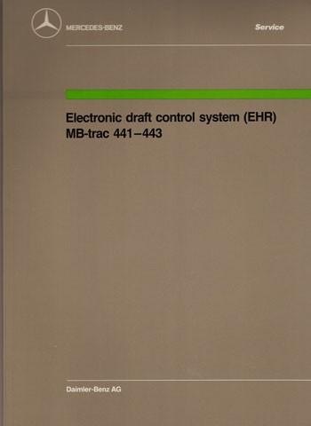 MB-trac 441 443 Electronic draft control system/EHR - 30 402 12 03 Original - 364021007