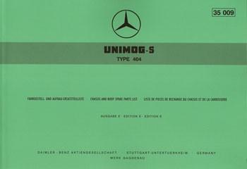 Ersatzteilliste Unimog-S 404 - 35009 - 204001004